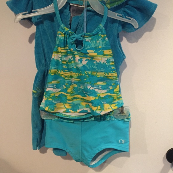 a9e8b92b7891f Swim | Girls 3t Tankini With 5t Tinkerbell Cover Up | Poshmark